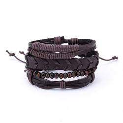 Multi-Layer Chestnut Bracelet Set