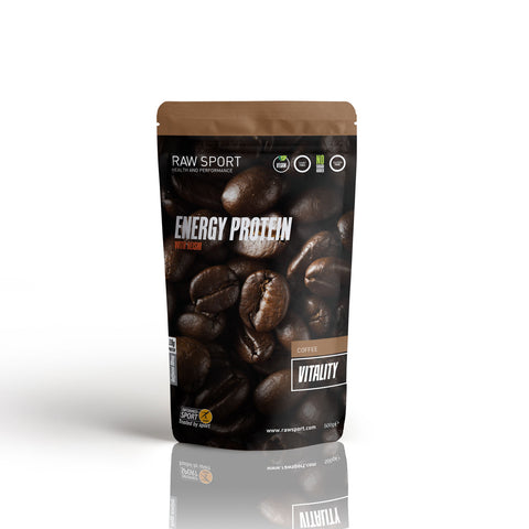 Coffee Vitality Protein Powder - Raw Sport