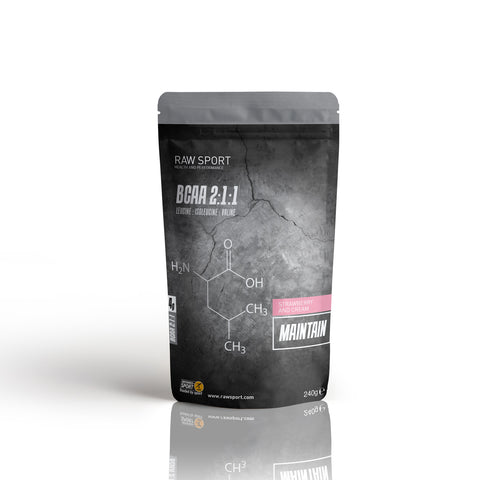 Strawberry & Cream  - BCAA Powder - Raw Sport