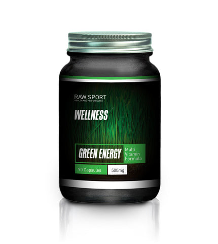 Organic green energy capsules. 90 caps - Raw Sport