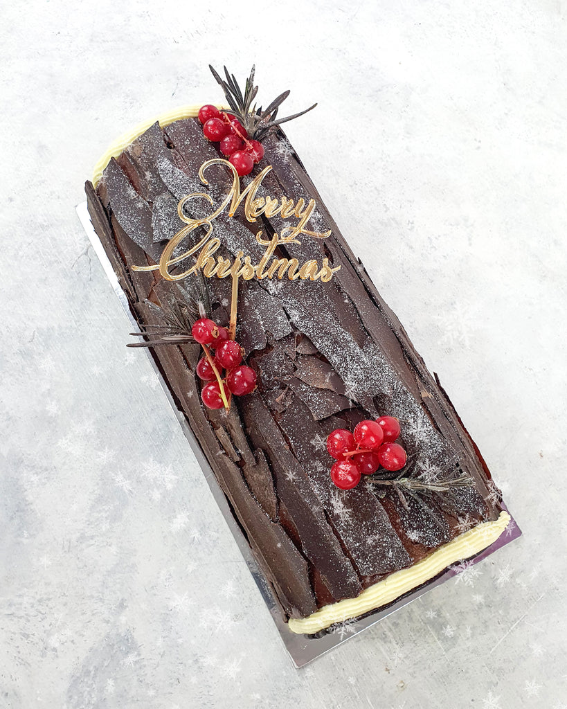 Keto Indulgent Chocolate Log