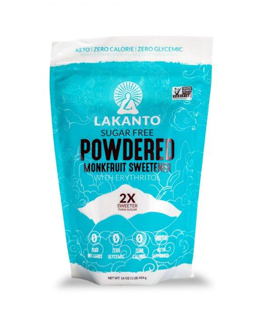 Lakanto, Powdered Monkfruit Sweetener with Erythritol, 1 lb (454 g)