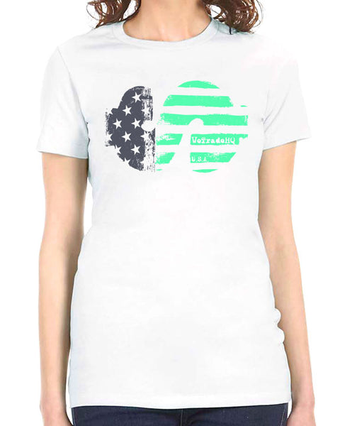 WTHQ Patriotic Dollar White Ladies Tee