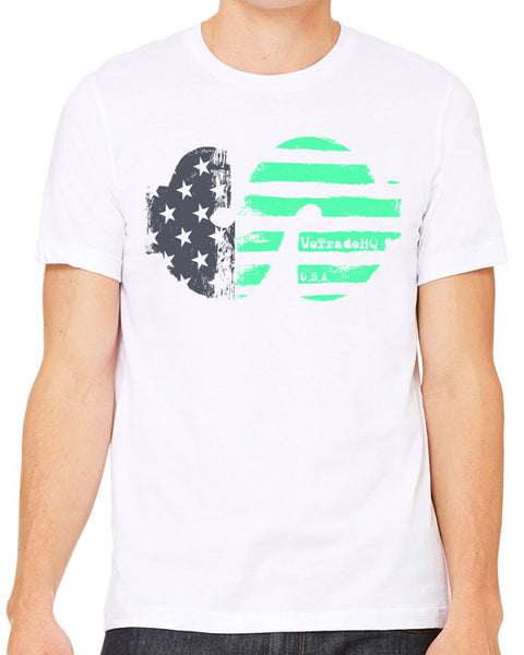 WTHQ Patriotic Dollar White Mens Tee