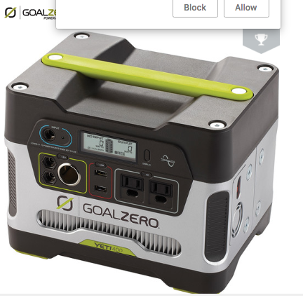 GoalZero Power Pack Yeti3000