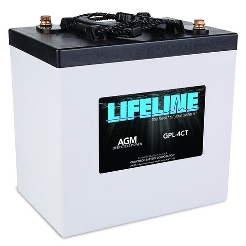 Life Line 6 volt Batteries (2) GPL-4CT - 220ah -