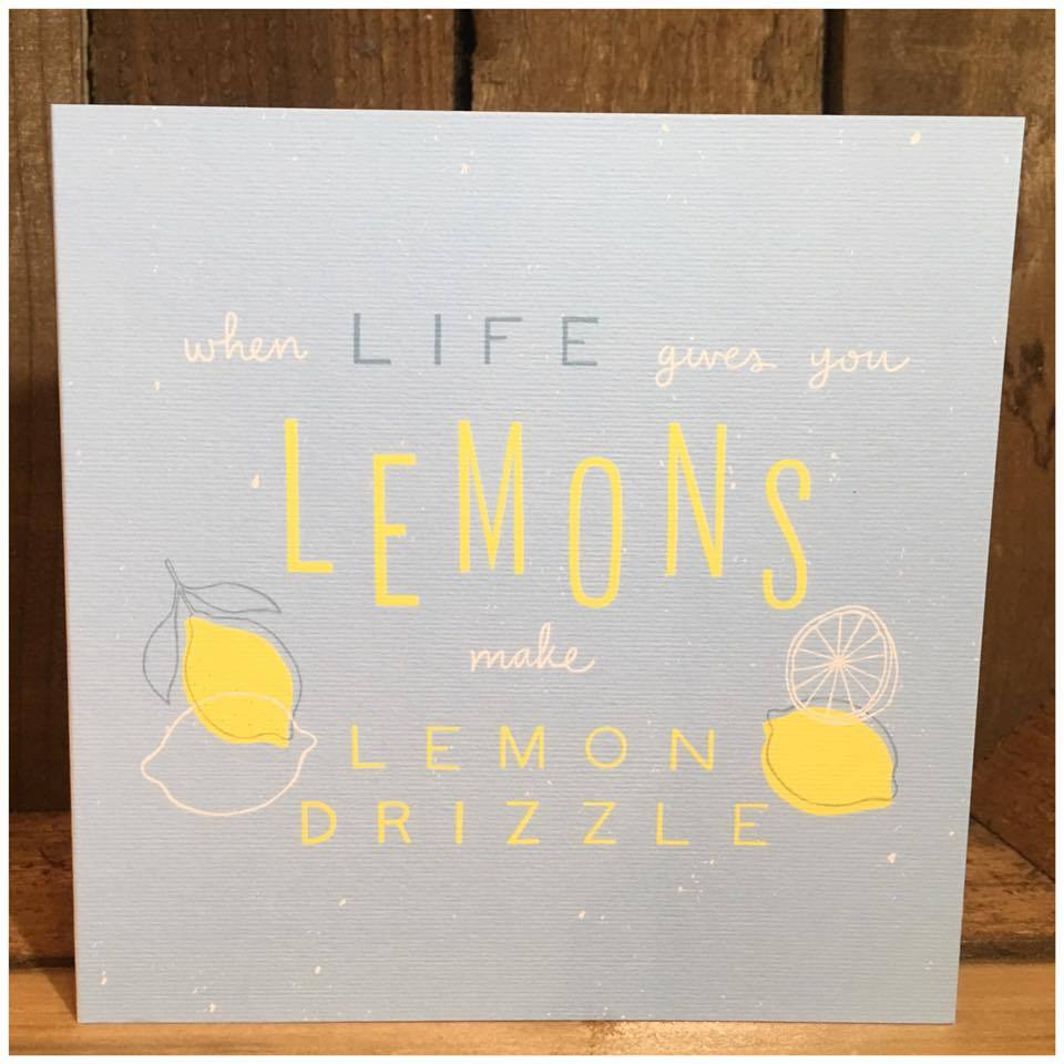 Lemon Drizzle Recipe Greetings Card
