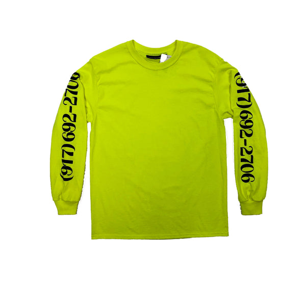 Dialtone L/S Tee-Safety Green