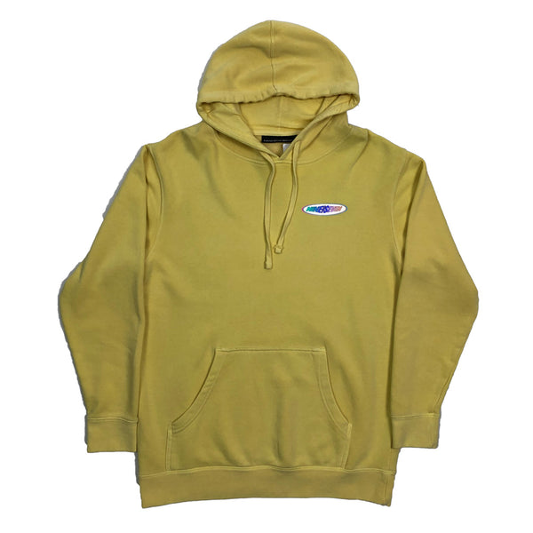 Racer Pullover Hood-Washed Yellow