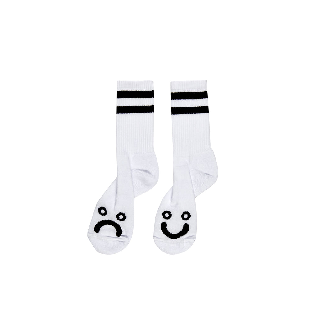 Happy/Sad Socks-White