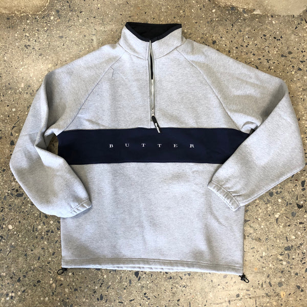 Hampshire 1/4 Pullover-Heather Grey/Navy