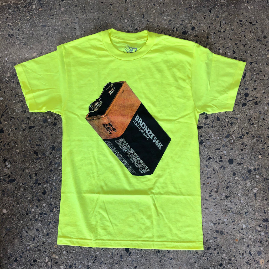 Battery Tee-Safety Green