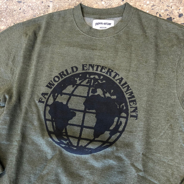 FA World Entertainment Crewneck-Army Heather