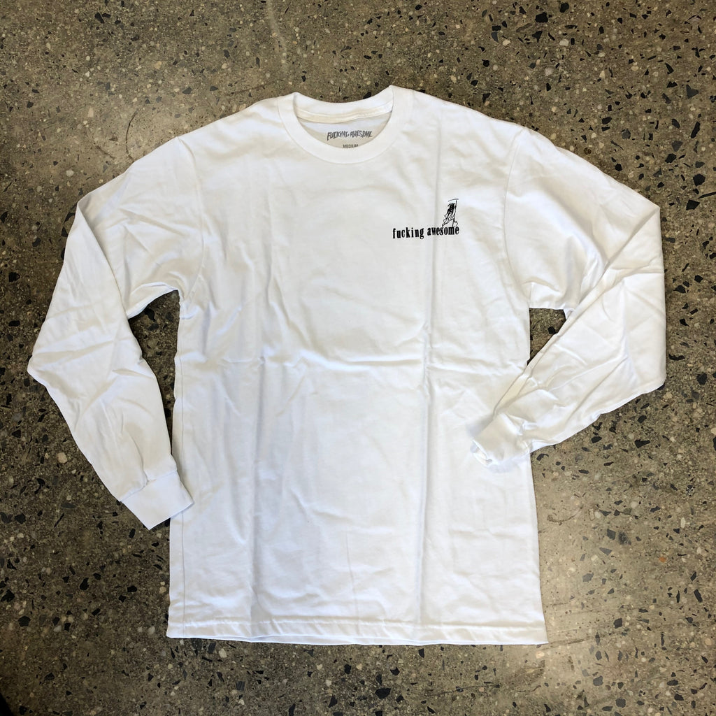 Wizards L/S Tee-White