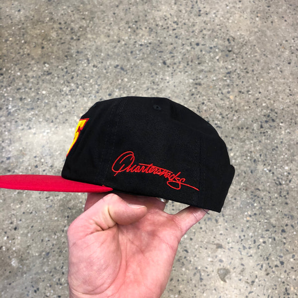 Racer Cap-Black/Red