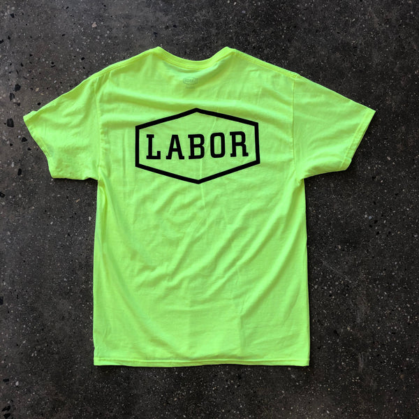 Crest Logo Tee-Safety Green
