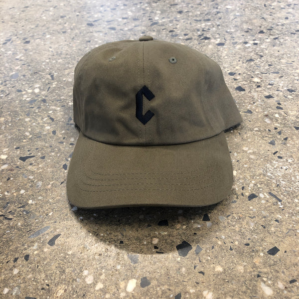 C-Logo Dad Hat-M. Green