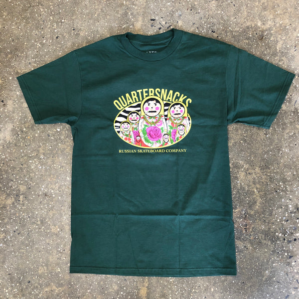 Russian Doll Tee-Forest Green