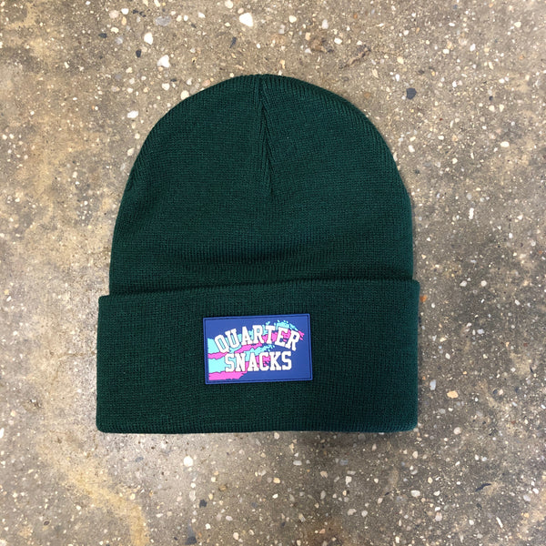 Rubber Label Beanie-Forest Green