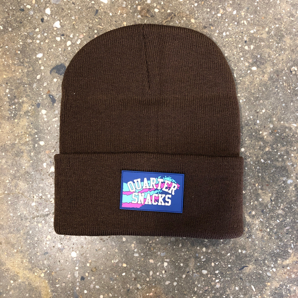 Rubber Label Beanie-Brown
