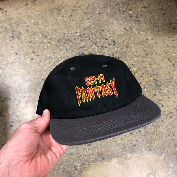 Biker Logo Hat-Black/Gun Metal
