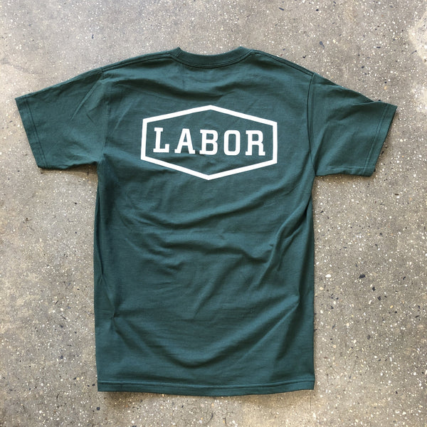 Crest Logo Tee-Forest Green