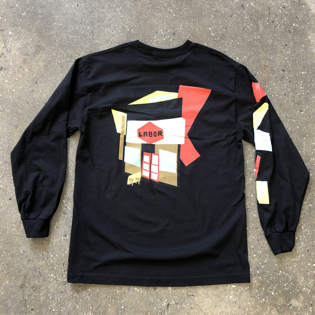 Cut Outs L/S Tee-Black