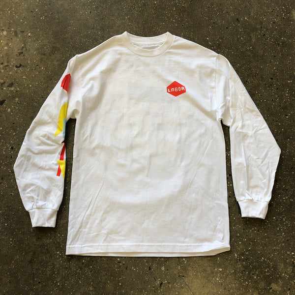 Cut Outs L/S Tee-White