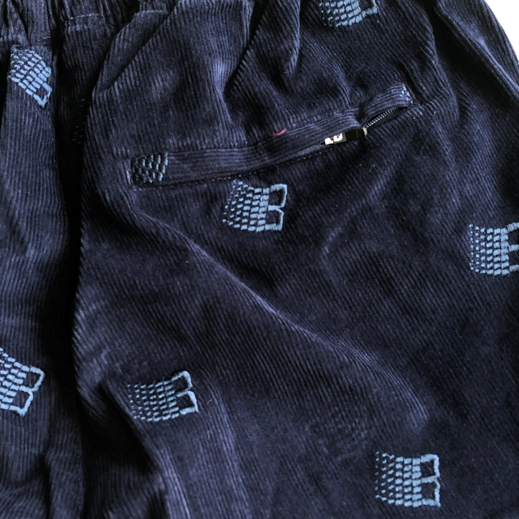 Embroidered B Logo Pant-Navy