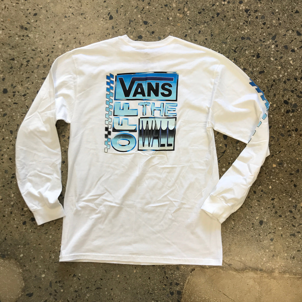 AVE Chrome L/S Tee-White
