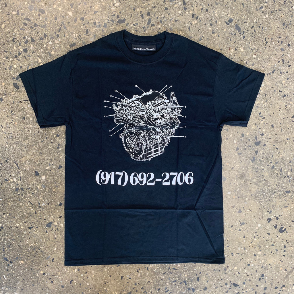 Engine Dialtone Tee-Black