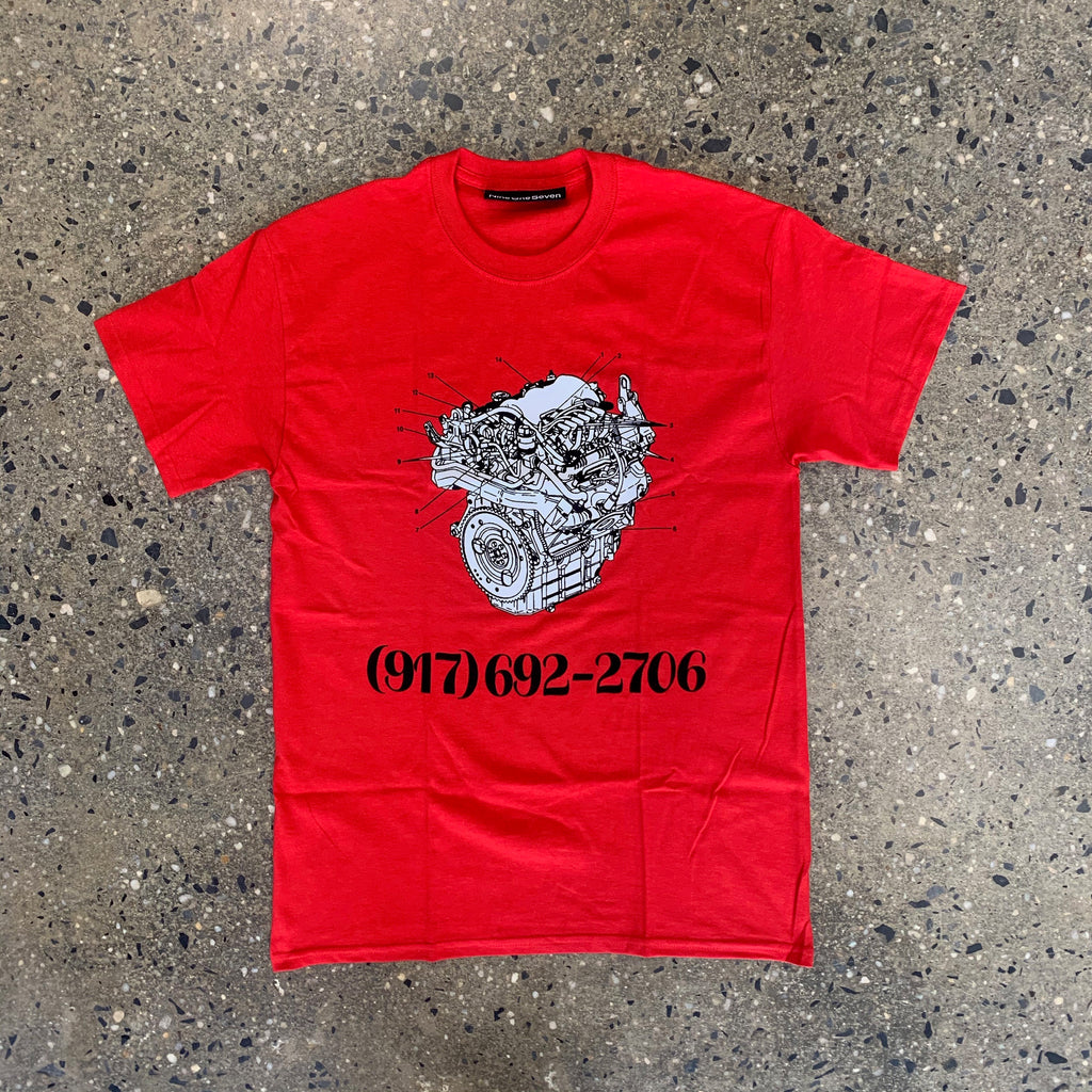 Engine Dialtone Tee-Red