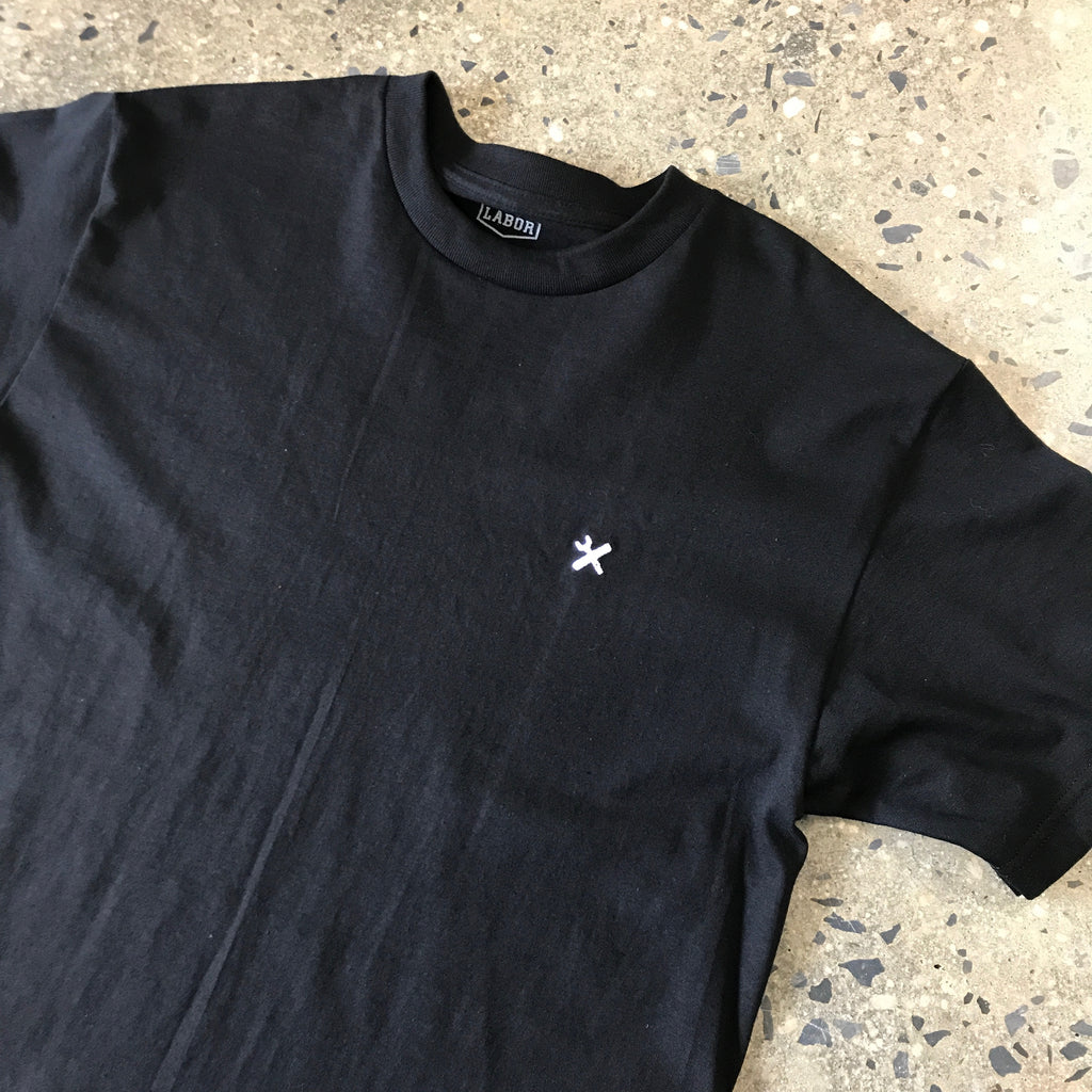 Embroidered Skate Tool Tee-Black