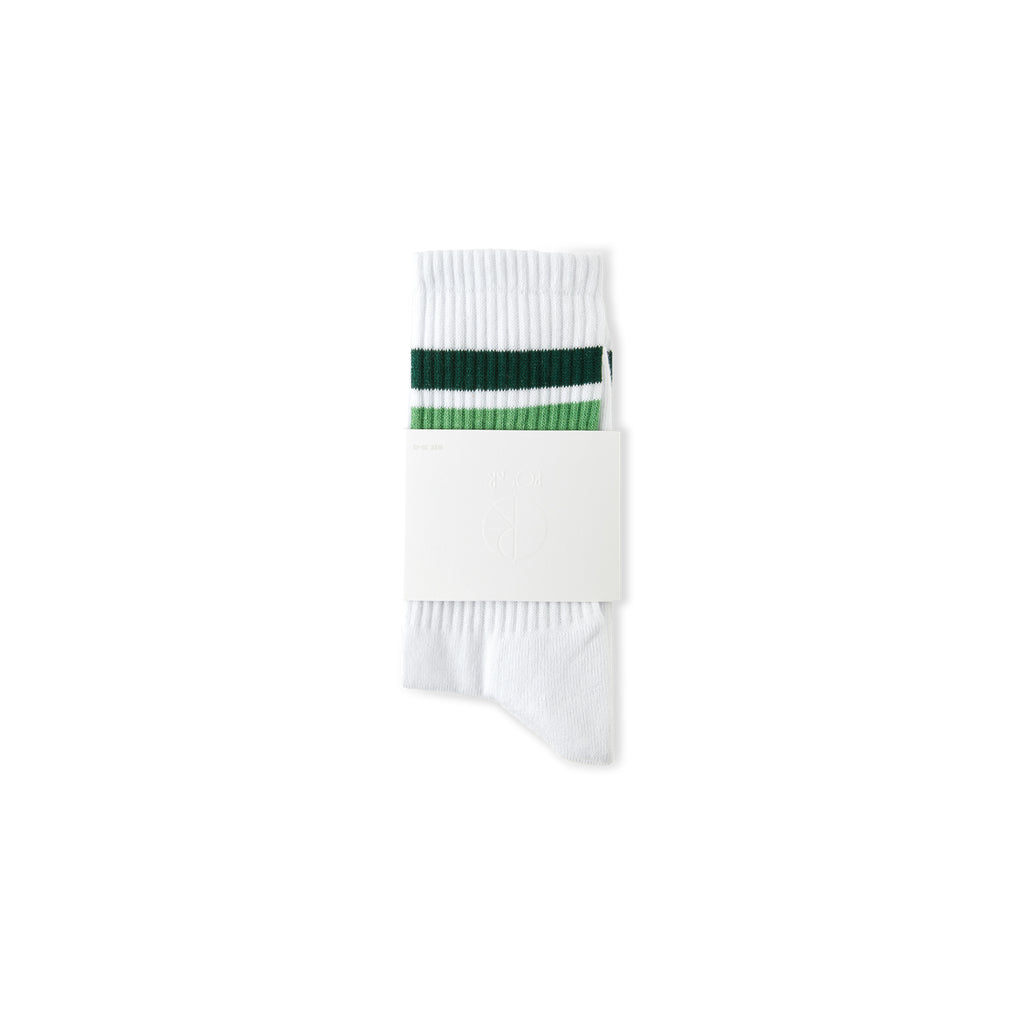 Stripe Socks-White/Green