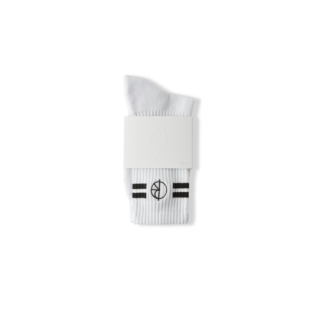 Stroke Logo Socks-White/Black