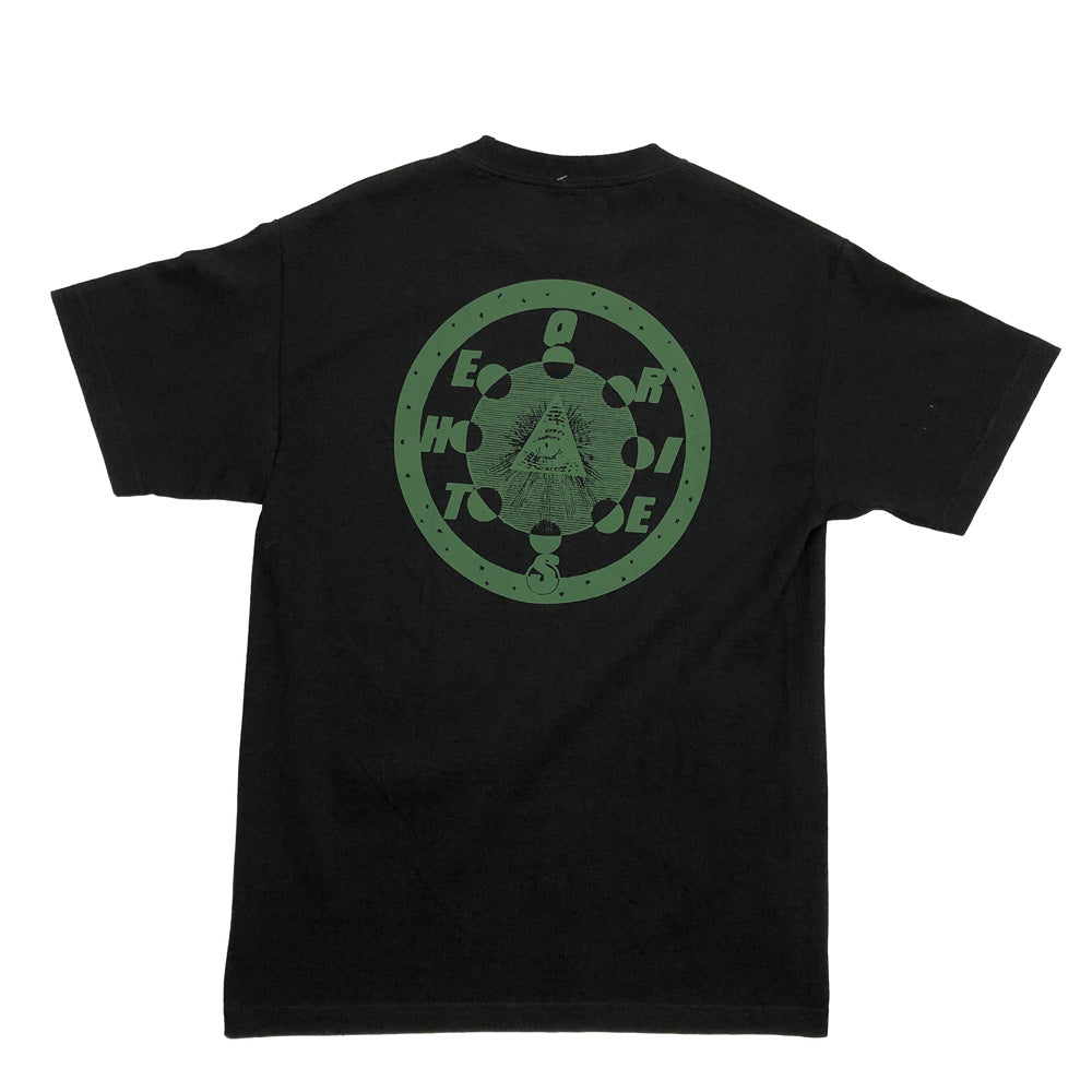 Morning Star Tee-Black/Olive