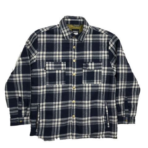 Lantern Flannel Jacket-Navy