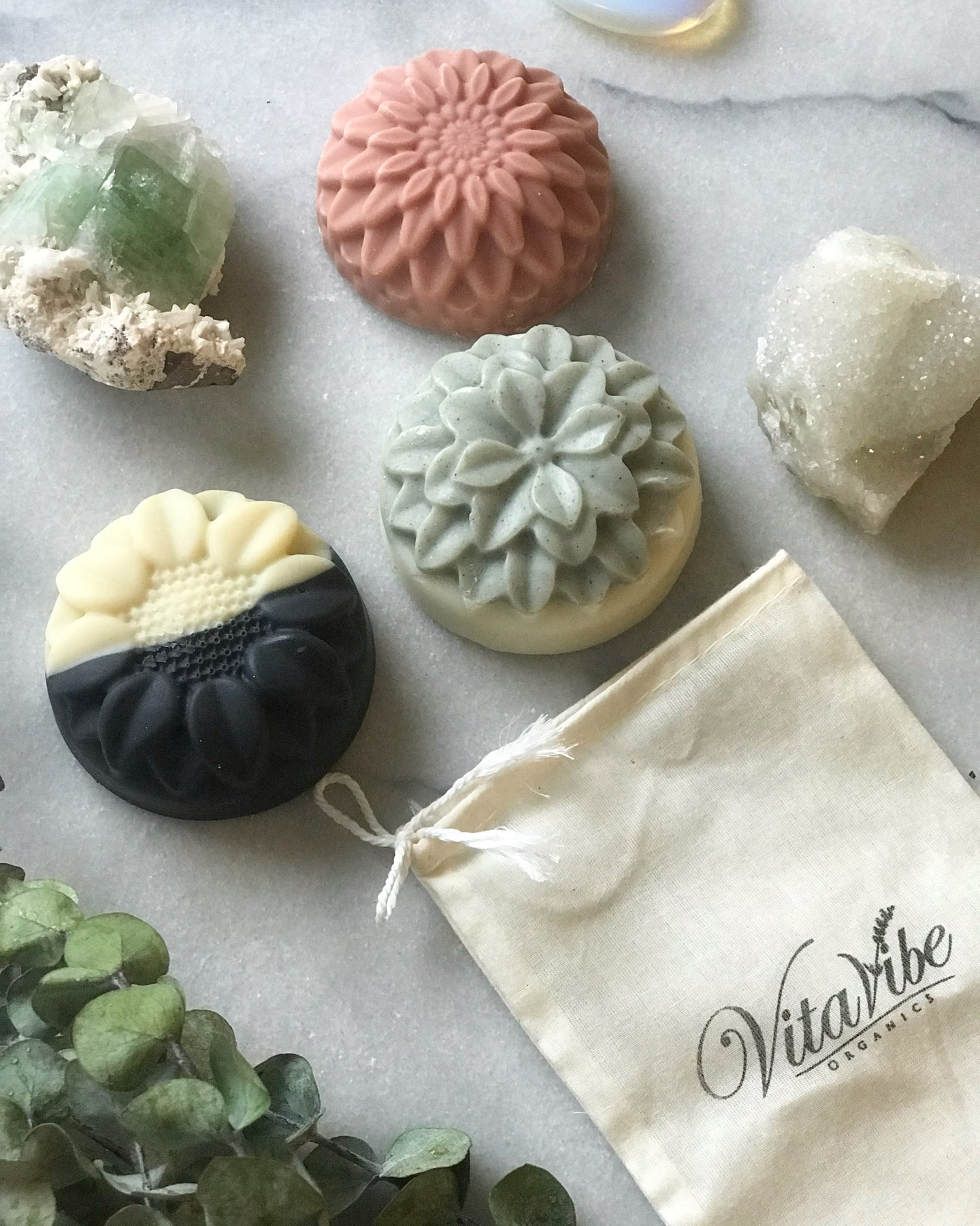 Organic palm oil free clay soap