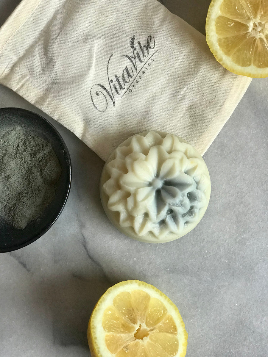 Citron Blue Bar with cambrian blue clay, lemon, & bergamot