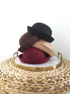 Wool felt brim hat