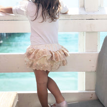 Ivory heirloom lace ruffle bloomers