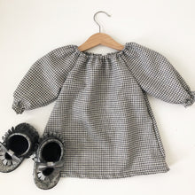 Houndstooth long sleeves Christmas tunic top and bloomers set, girl Christmas romper