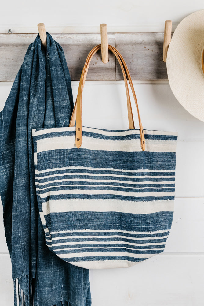 Stripe Mud Cloth Tote