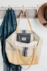 Stripe Grain Sack Tote (Sold Out)