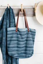 Load image into Gallery viewer, Indigo Stripe Tote