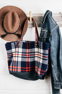Blanket Plaid Tote