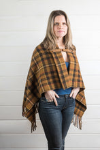 Load image into Gallery viewer, Wool Plaid Poncho