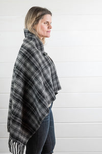 Plaid Wool Poncho