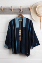 Load image into Gallery viewer, Indigo Stripe Haori Jacket