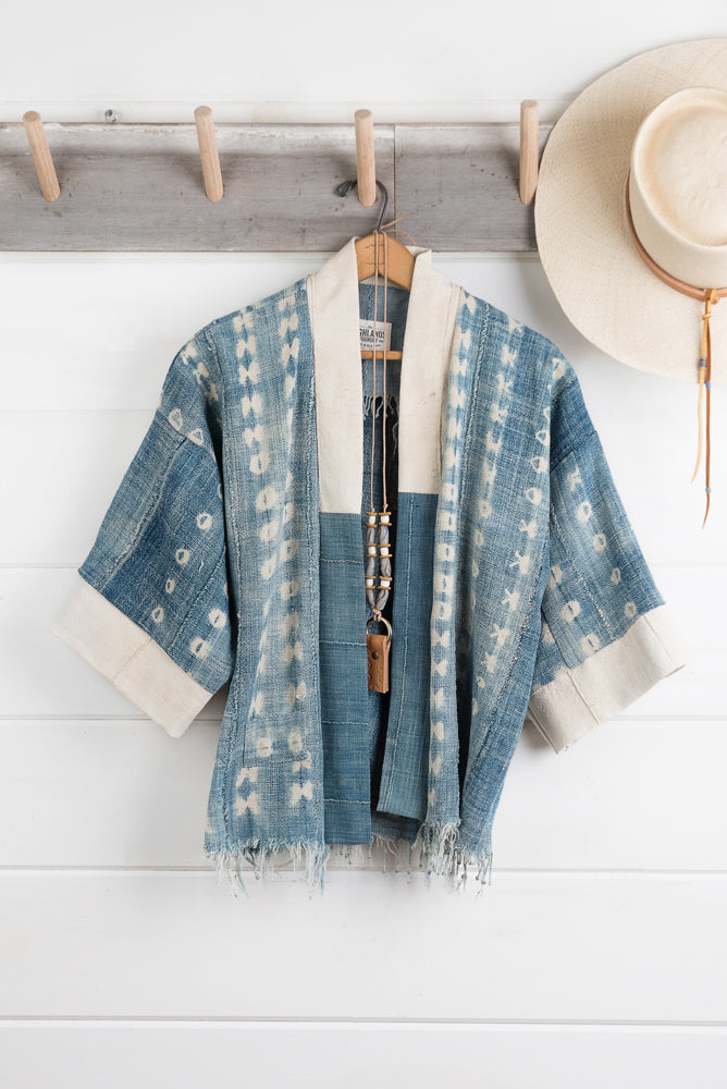 Indigo Shibori Jacket (Sold Out)